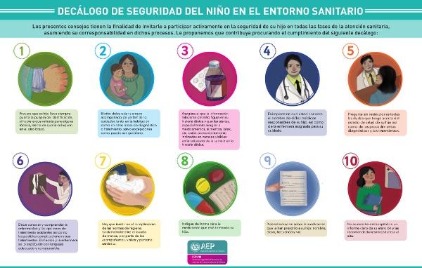 Decálogo de seguridad del niño en el entorno sanitario