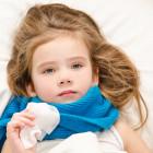 Niña con gripe
