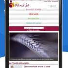 Nuevo diseño de EnFamilia para móviles