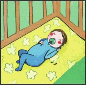 Lactante durmiendo boca arriba