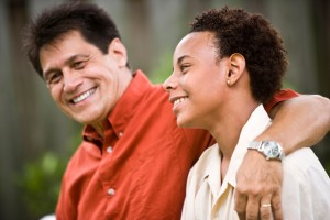 Adolescente con su pare
