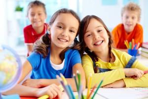 Niñas en el colegio