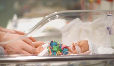 Prematuro en una incubadora